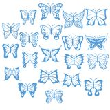 Set of butterflies. Vector illustration decorative background design
