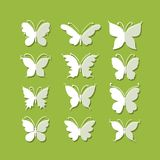 Set of butterflies for your design Royalty Free Stock Photos