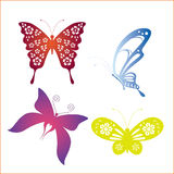 Set of butterfly Royalty Free Stock Images
