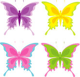 Set of butterfly Royalty Free Stock Photos