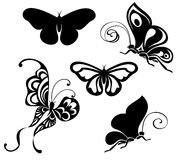 Set of Butterfly Collection Royalty Free Stock Image