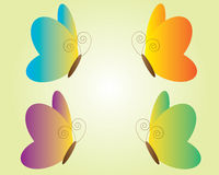Set of butterfly icons Stock Photography