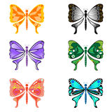 Set of butterfly  shape Stock Photo