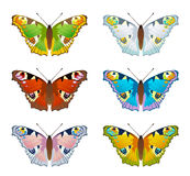 Set butterfly Royalty Free Stock Photo