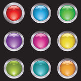 Set of button. For various design artwork Royalty Free Stock Photography