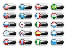 Set button. Vector set world flag icons Stock Photography
