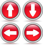 Set button with arrow Stock Photos