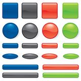 Set of button different form Stock Image