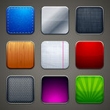 Set of button icons Royalty Free Stock Image