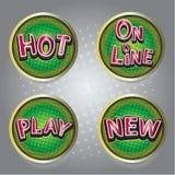 Set of button icons website Stock Photos