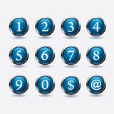 Set of button with number Royalty Free Stock Photography