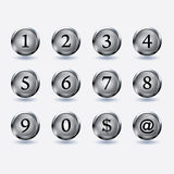 Set of button with number Royalty Free Stock Photo