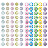 Set of button with number. Web design graphics icon Stock Photos