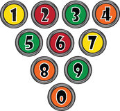 Set button with numbers Royalty Free Stock Photos