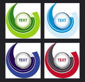 Set of button templates Stock Photography