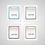Set of button vector Stock Photography