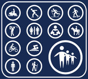 Set buttons - 100_D. Pictographs of people Stock Photography
