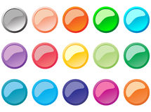 Set of buttons Stock Images