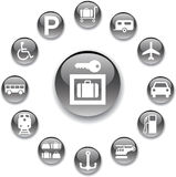 Set buttons - 107_A. Transport icons Stock Photo