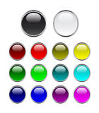 Set of buttons. Set of shine glossy buttons Stock Photos