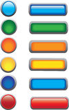A set of buttons Royalty Free Stock Images