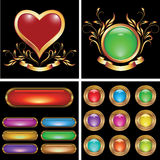 Set of buttons Stock Photos