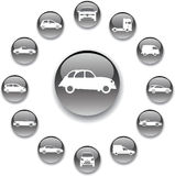 Set buttons - 127_A. Cars Stock Images