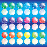 Set of buttons. Illustration for your design Royalty Free Stock Photography
