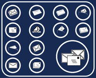Set buttons - 14_D. Mail Stock Image