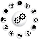 Set buttons 18B. Gears Royalty Free Stock Photography