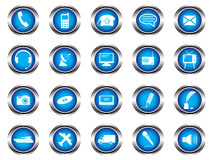 A set of buttons Stock Photography