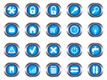 A set of buttons. With symbols Stock Images