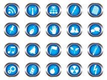 A set of buttons Stock Photos