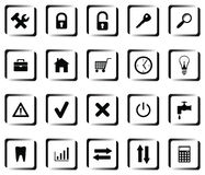 A set of buttons Stock Photo