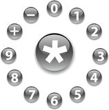 Set buttons - 2. Mathematics Stock Photos