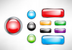 Set of buttons Stock Photography