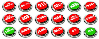 Set of buttons Stock Photo