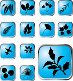 Set buttons - 40_X. Leaves royalty free illustration