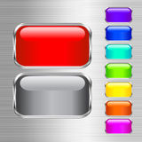 Set of buttons. This illustration can be used for your design Royalty Free Stock Image