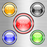 Set of buttons. This illustration can be used for your design Stock Photos
