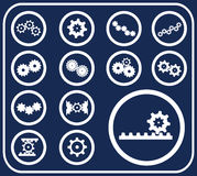 Set buttons - 51_D. Gears Stock Photo