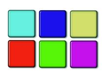 Set buttons. A set of different color web buttons Stock Photography