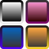 Set of buttons. Set of gradient buttons for design Royalty Free Stock Photography