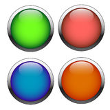 Set buttons Stock Photography