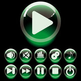 Set of buttons royalty free illustration