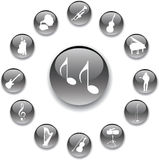 Set buttons - 95_A. Music Stock Photo