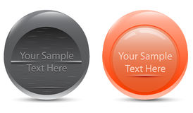 Set of buttons banners for inscriptions. Set of round buttons banners for inscriptions Vector Illustration