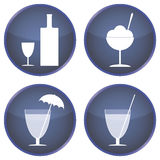 Set of buttons for cafes and bars Royalty Free Stock Image