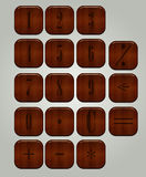 Set of buttons for the calculator Stock Images