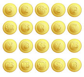 Set 20 Buttons Currency Stock Photography